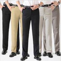 männliche hohe taille lange hose großhandel-Mens High Waist Hosen Straight Tube Lose Hosen Casual Designer Straight Plus Size Lange männliche Kleidung