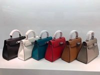 Wholesale christmas present bags for sale - Group buy Designer Crossbody bag Women Mini shoulder bags real leather hard shell hasp bags present with box