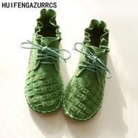 ingrosso scarpe artistiche fatte a mano-HUIFENGAZURRCS-scarpe pure fatte a mano, scarpe da ragazza art mori retrò, scarpe casual alla moda, scarpe vintage in pelle dolce, 3