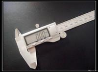 çelik vern kaliper toptan satış-Yüksek kaliteli tüm metal paslanmaz çelik LCD dijital kumpas ölçüm 0-150mm elektronik sürmeli kumpas sürmeli kumpas kutusunu göndermek için