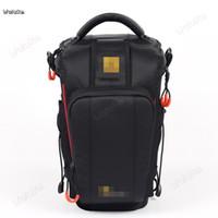 mochila de câmera vermelha venda por atacado-Profissional SLR lidar com saco da câmera telefoto preto e vermelho lateral mochila plug-in cinto para uso com os ombros CD50 T07