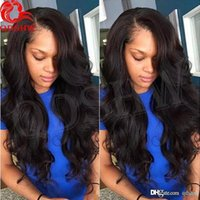 Wholesale real indian hair wigs women for sale - Group buy Brazilian Wet And Wavy Full Lace Wigs For Black Women Hd Transparent Glueless Real Human Virgin Hair Wet And Wavy Lace front wig