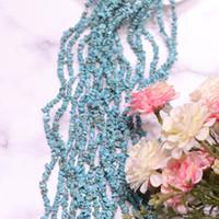 ingrosso collane minerali-JNMM Natural Mineral Turquoise 80CM con la forma di lunga catena di pietra di pino piccolo seme universale con collana braccialetto perline