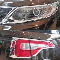 ingrosso coperture del faro-ABS cromato Per Kia Sorento XM 2010-2014 faro anteriore fari fari coprilampada fanali posteriori Car styling Accessori esterni