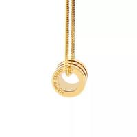 alltags-gold halskette großhandel-Luxus designer schmuck happy everyday männer frauen titanium 3 farben anhänger halskette schlangenkette mode geschenk halskette für liebe