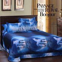 Wholesale horse king size bedding online - 3d Comforter Bedding Sets Single King Twin Queen Size Bedclothes Bed Linen Horse Printed Duvet Cover Set Bed Sheets Bedspread
