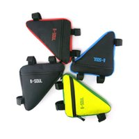 Wholesale bicycle pouch bags resale online - Waterproof L Triangle Bag Cycling Bicycle Front Tube Frame Bag Mountain Bike Pouch Holder Saddle Bag ZZA348