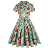 Wholesale casual pin up for sale - Group buy 4XL Plus Size Tunic Women Dress Clothing Pin UP Vestido Autumn Winter Retro Casual Party Robe Rockabilly s s Vintage Dresses