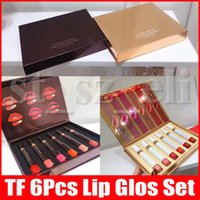 Wholesale whites lipstick resale online - Brand Lip Makeup Lipgloss Black White Box Lip Lacquer Liquid Patent Laque A Levers Liquid Lipstick Make up set