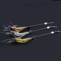 Wholesale bionic shrimp lures online - 90mm g Soft Simulation Prawn Shrimp Fishing Floating Shaped Lure Hook Bait Bionic Artificial Shrimp Lures ZZA258
