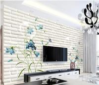 ingrosso tulipano murale-Foto personalizzata di qualsiasi dimensione Tulip 3d flower mural 3d wallpaper 3d wall papers per tv sullo sfondo