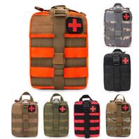 sacos médicos ao ar livre venda por atacado-Tactical Saco de Primeiros Socorros Kit Médico Saco Molle EMT Sobrevivência de Emergência Bolsa Ao Ar Livre Caixa Médica Tamanho Grande Saco SOS / pacote