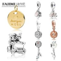 Wholesale new sport music resale online - FAHMI Sterling Silver New Genuine Magic Tea Cup Calm Lotus And Enamored Love Pendant Car Balloon Beaded