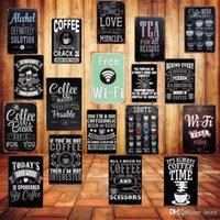 бесплатные барные вывески оптовых-Бесплатный WIFI Потертый Chic Home Bar Cafe Vintage Decor Wall Art Metal Олово Знаки Pub Таверна Ретро Декоративные тарелки металла плакат ABOX