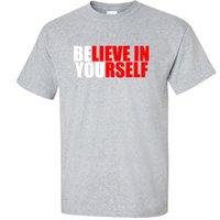 tees graphiques unisexes achat en gros de-Big 3XL 4XL 5XL Graphic T-Shirt Croyez en vous-même 3X 4X 5X Tee ShirtFunny livraison gratuite Unisexe Casual T-shirt