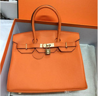 Wholesale real cell phones resale online - 35CM CM CM Famous Brand H Totes bags women Genuine leather Bags Fashion lady Handbag Factory In Stock Real Image22