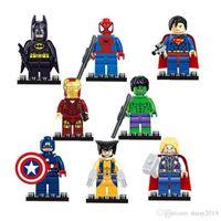 juguetes playmobil al por mayor-SY180 Iron Man Spiderman Batman Green Gigante Capitán Playmobil Toys for Children