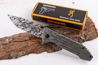 Wholesale gear pattern resale online - Outdoor gear Corrosion Pattern Browning Folding Knife Drop Point Assisted Quick Open Survival EDC Pocket Tactical Knives Gift P57Q F