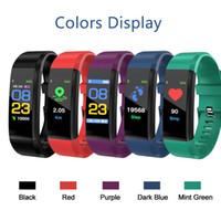spieltag armband großhandel-ID115 Plus Tracker Smart Watch Herzfrequenz Armband Schrittzähler Band Herzfrequenz Blutdruckmessgerät Armband DHL