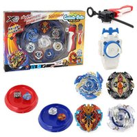 Wholesale metal fight beyblade toys resale online - 4pcs set Beyblade Arena Spinning Top Metal Fight Bey blade Metal Beyblade Stadium Children Gifts Classic Toy For Child T191019