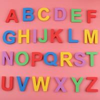 palavras do ímã venda por atacado-26 Pcs Carta EVA Ímã de Geladeira Maiúsculas Minúsculas Crianças Educação Infantil Palavras de Ortografia Ensino Ímãs de Geladeira Etiqueta Educacional brinquedo