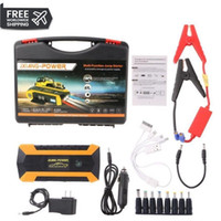 ingrosso pacchetto 12v-2019 89800mAh 4 USB portatile Auto Car Jump Starter Pack Booster Caricabatteria Bank Power Bank UK / AU Plug DC 12V