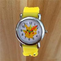 Wholesale poke resale online - 2019 Fashion D Cartoon Poke Pikachu Watch Boys Girls Soft Silicone Quartz Watches Students Cartoon Anime Digimon Watch Wristwatches