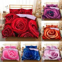 Wholesale 3d bedding set roses for sale - Group buy Homesky D Rose Flower Queen King Twin Comfort Bedding Sets Duvet Quilt Cover Wedding Bedding Set Bedspread Bedclothes