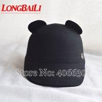 oreja de boina al por mayor-Novedad diseño de animales mujeres fieltro de lana Fedora Chapeu Beret Cap con Ear Knight Cap envío gratis SADW026