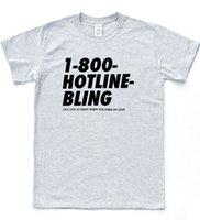 bling camisetas al por mayor-Hotline Bling camiseta Drake God Hands Hipster Tee Música Owl Ovo Slogan Top chaqueta croacia camiseta de cuero