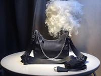 maletín blanco mujer al por mayor-envío libre global nuevo clásico de lujo Mensajero bolso a juego de la lona de cuero de pecho bolsa de mejor calidad tamaño 25 cm 14 cm 9 cm