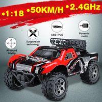 motor 18 toptan satış-50 km / saat 1:18 Uzaktan Kumanda Araba Yüksek Hızlı Rc Elektrikli Kamyon Off-Road Araç 2.4G Makinesi Oyuncak Araba Çocuklar için