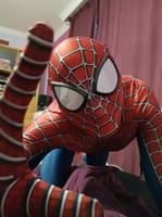 trajes de mascote para crianças venda por atacado-New Spiderman Costume 3D Impresso Crianças Adulto Lycra Spandex Homem-Aranha Traje Para O Dia Das Bruxas Mascote