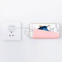 подставка для зарядки планшета оптовых-Универсальный Настенный держатель телефона зарядная подставка с кронштейном липкий для iPhone Xs Max X Plus Samsung Galaxy Huawei Tablet розничная упаковка