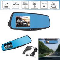Wholesale car dvr mirror monitor camera resale online - Audew Inch P Car Rear View Mirror Dash DVR Video Recorder Lens Camera Monitor Night Vision Wide angle Driving Recoder