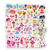 Wholesale lalaloopsy dolls for sale - Group buy 50PCS Lalaloopsy Sticker Cartoon Girl Doll Movie Animation Stickers Home Decor Master Laptop Skateboard Lage Guitar Motorcycle Decal Toys
