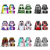 Wholesale cartoon pillows resale online - DJ Marshmello Backpack Cartoon Christmas Halloween Backpack Music Star Printed Schoolbag Portable Travle Makeup Backpack Storage Bag RRA1718
