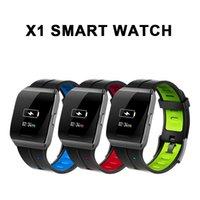 relógio remoto novo venda por atacado-Venda quente novo x1 smart watch tela colorida ip68 à prova d 'água freqüência cardíaca monitor de pressão arterial pulseira de câmera de controle remoto para android ios
