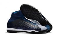 zapatos de fútbol superior al por mayor-Original Nuevo botines de fútbol con botines altos Hypervenom Phantom III DF TF ACC Botines de fútbol HypervenomX Proximo IC Zapatos de fútbol para interiores Turf