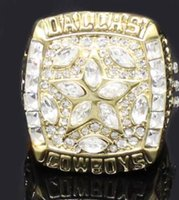 ringe cowboys großhandel-Großhandel New Souvenir Classic Kollektion Rugby 1995 Cowboy Super Bowl Championship Ring Hersteller Schnelle Lieferung