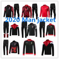 Wholesale ibrahimovic training suit for sale - Group buy IBRAHIMOVIC jacket tracksuits AC Milan Full zipper survetement HIGUAIN SUSO CALHANOGLU PIATEK jacket Football training suit