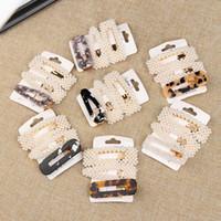 ingrosso clip di capelli di modo della corea-Clip di capelli perlati in perle di moda coreana per donna Forcelle per capelli Forcelle Accessori per lo styling alla moda fatti a mano