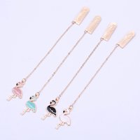Wholesale paper book bookmarks for sale - Group buy Kawaii Flamingo Metal Bookmark Cute Animals Bookmarks for Books Paper Page Marker Stationery School Office Supplies