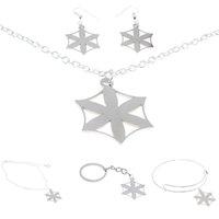 ingrosso segni di fiori-Afrodite Jewelry set Fiore di Afrodite Emblem Amuleto Talisman Hex Iscriviti collana del braccialetto fascino Kerying orecchino di caviglia
