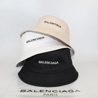 Wholesale mens stingy hats resale online - Designer Hats Bucket Brand Fishing Hat For Adults Mens Women Sport Brim Bucket Caps Cotton Beach Sun Hat