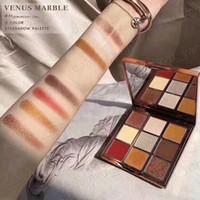 venus geschenke großhandel-Dropshipping Hot Makeup Palette Venus Marmor 9 Farben Lidschatten-Palette Eye Cosmetics Mammonism / Romanticism 2 Styles mit Geschenk