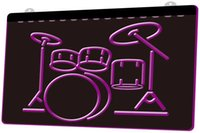 Wholesale bar instruments for sale - Group buy Ls0056 My Band Room Drum Music Instruments Rgb Multiple Color Remote Control d Engraving Led Neon Light Sign Shop Bar Pub Club