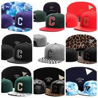 Wholesale leather brimmed baseball caps for sale - Group buy 2019 Casual Adjustable Cayler Sons Baseball Caps Casquettes chapeus C letter leather leopard zebra brim men women hiphop Snapback Hats