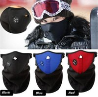 Wholesale bicycle motorcycle face mask helmet resale online - New Bicycle mask Winter Ski snow neck warmer face mask helmet for Skate Bike Motorcycle Cycling Caps Face party Masks C0186