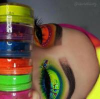 fards à paupières scintillants achat en gros de-7 couleurs Neon Eye Shadow Kit Neon poudre Pigments Pile de 7 couleurs définies Neomineral / BioMakeup Neon / Glitter Eyeshadows